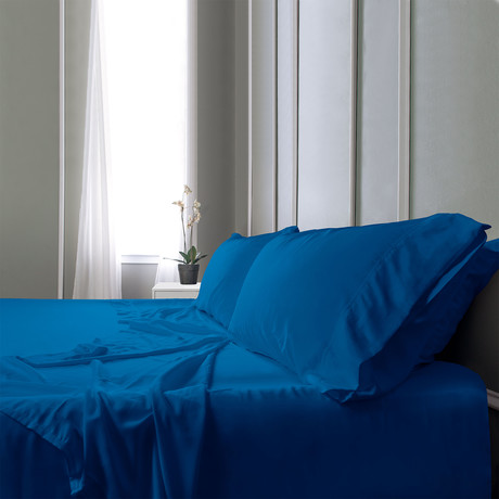 Bamboo Field Bedsheets // Navy (Twin XL)