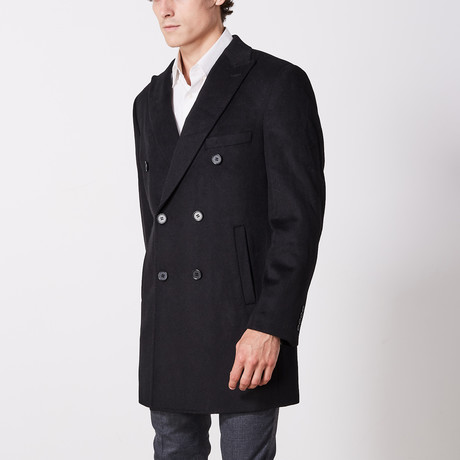 Double Breasted Coat // Black (US: 36R)