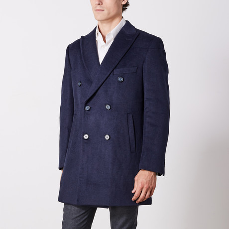 Double Breasted Coat // Navy (US: 36R)