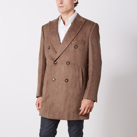 Double Breasted Coat // Camel (US: 36R)