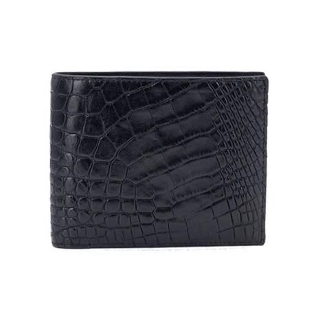 Exotic Alligator Wallet // Black
