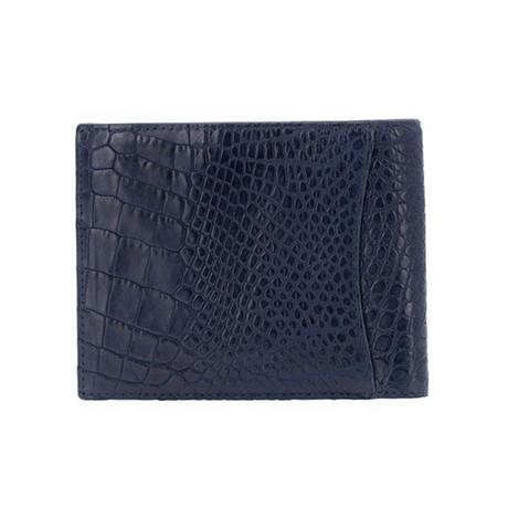 Exotic Alligator Wallet // Navy Blue