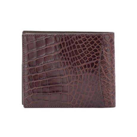 Exotic Alligator Wallet // Kango Brown