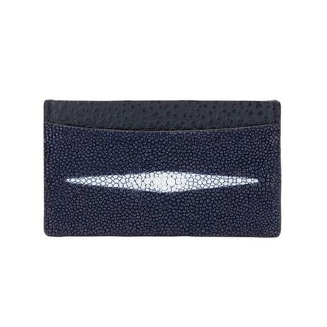 Exotic Stingray Card Holder // Navy Blue