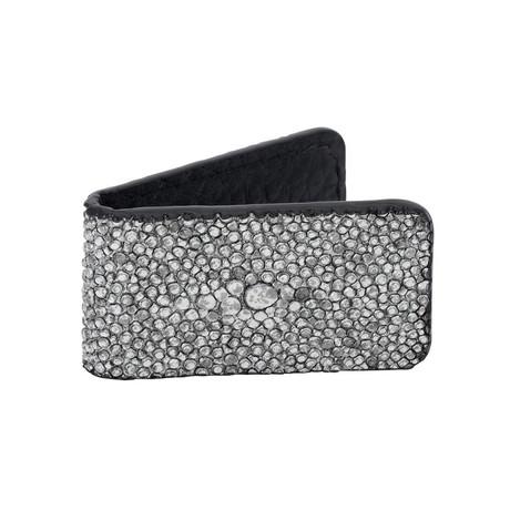 Exotic Stingray Mini Money Clip // Silver