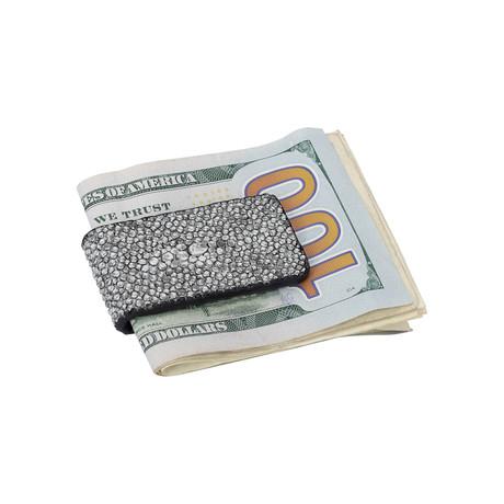 Exotic Stingray Large Money Clip // Silver