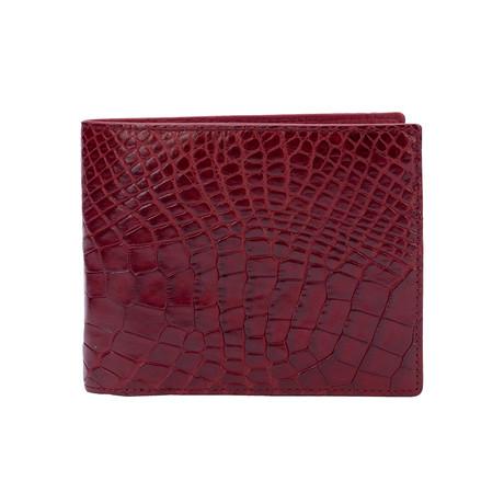 Exotic Alligator Wallet // Burgundy