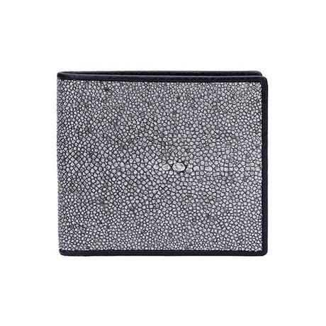 Exotic Stingray Wallet // Silver