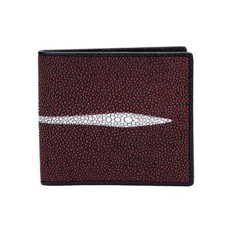 Exotic Stingray Wallet // Burgundy