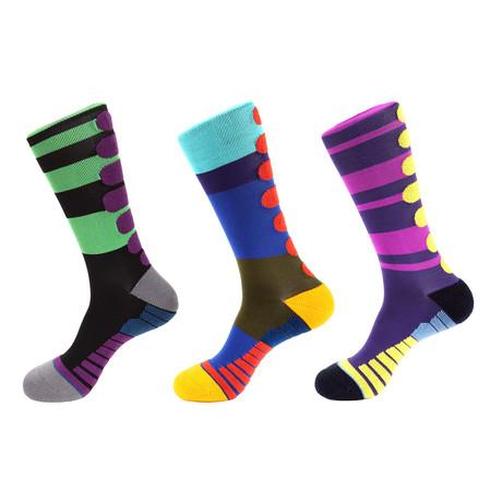 Monster Athletic Socks I // Multicolor // Pack of 3