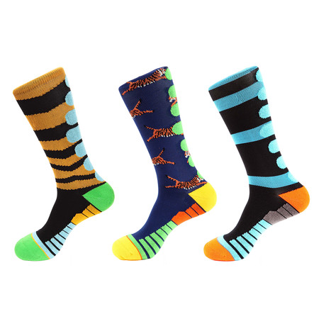 Athletic Socks // Multicolor // Pack of 3