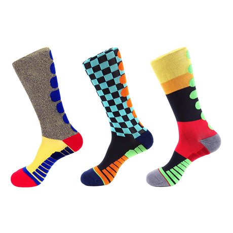 Champion Stripe Athletic // Multi Color // Pack of 3 (Multicolor)