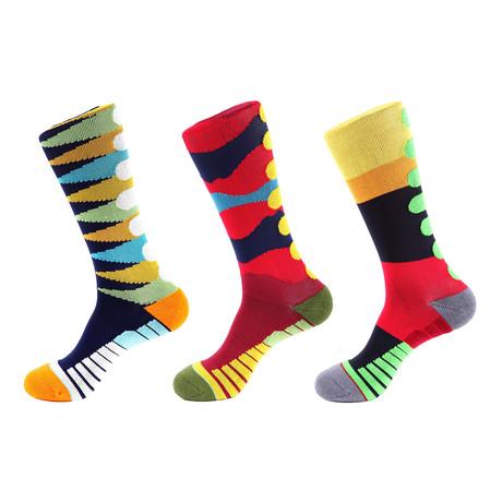 Checker Athletic Socks I // Multicolor // Pack of 3