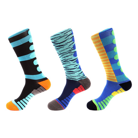 Team Strength Athletic Socks // Multicolor // Pack of 3