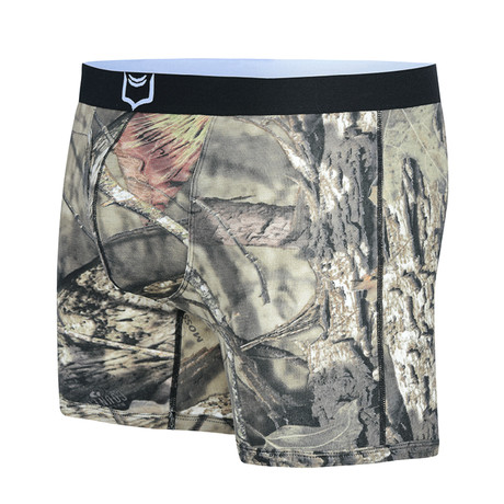 Sheath 4.0 Dual Pouch Boxer Brief // Mossy Oak (Small)