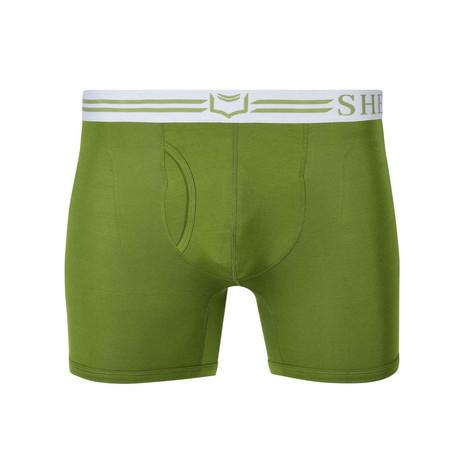 Sheath 4.0 Dual Pouch Boxer Brief // Green (Small)