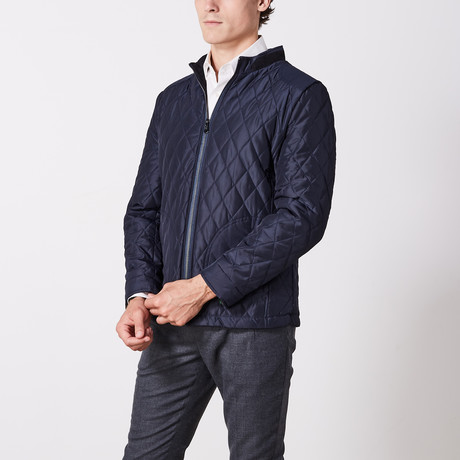 Quilted Coat // Hot Navy (S)