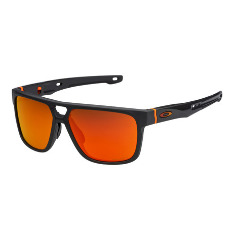 Men's Crossrange Patch Sunglasses // Matte Carbon + Ruby