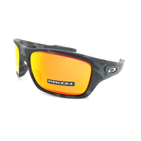 Men's Turbine Sunglasses // Black Camo + Ruby Red