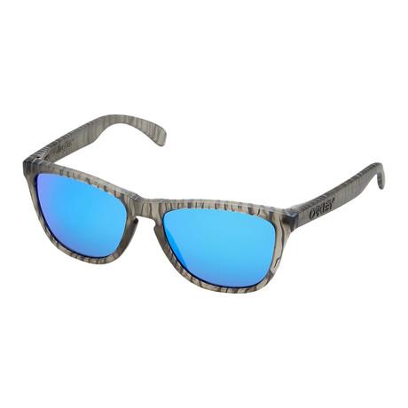 Unisex Frogskins Sunglasses // Matte Gray + Ink Sapphire