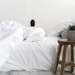 Miracle Sheet Set // Extra Luxe Sateen // White (Twin)