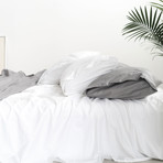 Miracle Fitted Sheet // Extra Luxe Sateen // White (Twin)