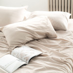 2PK Miracle Pillowcases // Extra Luxe Sateen // Sand (Standard)
