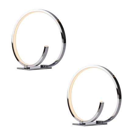 Circular Design Table Lamp // Led Strip // Set of 2