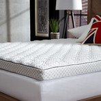 BEHRENS England // Charcoal Infused Memory Foam Supreme Mattress Topper (Full)