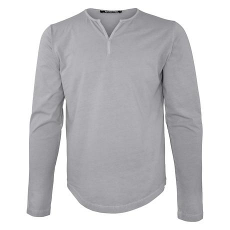 Caleb Long-Sleeve Shirt // Dark Gray (S)