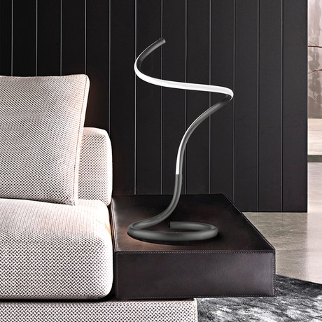 Shimmy Loop // Accent Table Lamp (Matte Black)