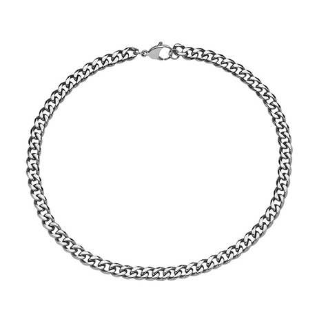 Cuban Link Stainless Steel Necklace // 6mm // Silver