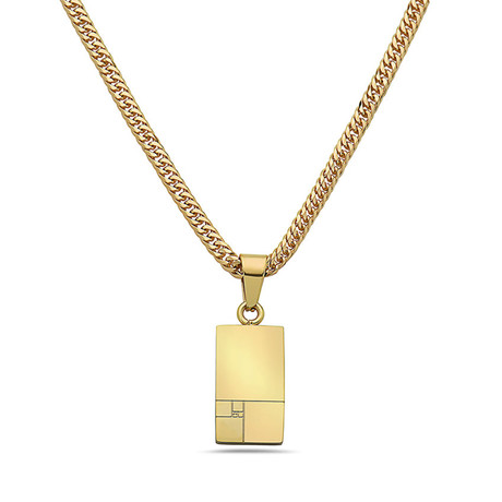Golden Ratio Pendant Necklace // Gold