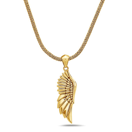 Angel Wing Naga Necklace (Silver)