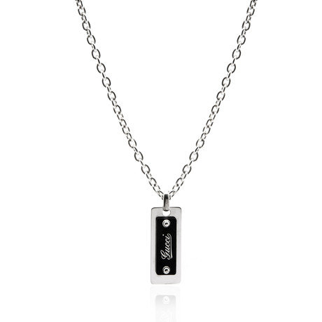 Gucci Sterling Silver Pendant Necklace II