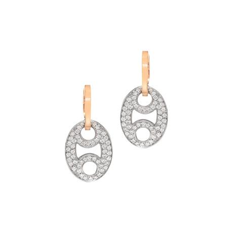 Roberto Coin 18k Two-Tone Gold Diamond Earrings II