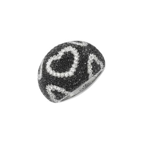 Roberto Coin 18k White Gold Diamond Ring // Ring Size: 6.25