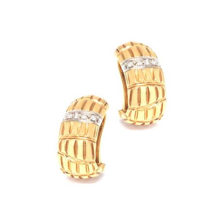 Roberto Coin 18k Two-Tone Gold Diamond Earrings III