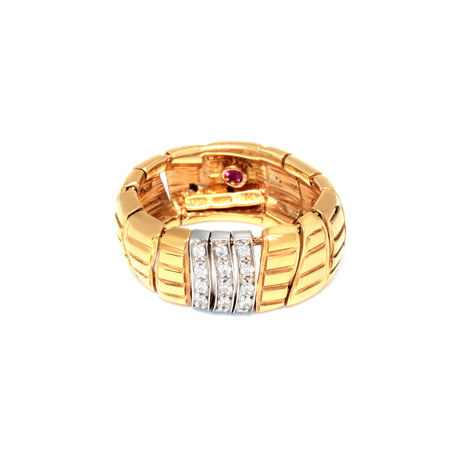 Roberto Coin 18k Two-Tone Gold Diamond Ring // Ring Size: 6.5