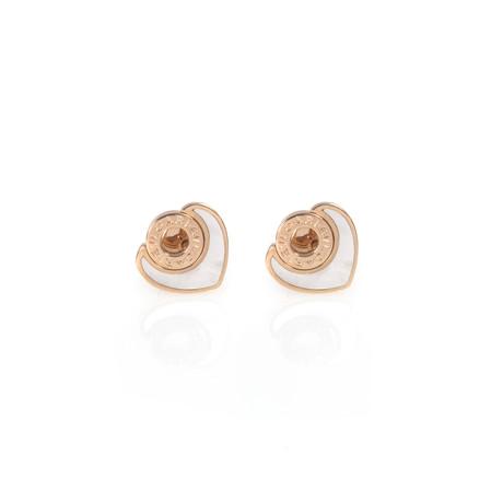 Bulgari Bulgari 18k Rose Gold Mother of Pearl Earrings