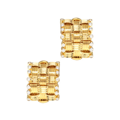 Roberto Coin 18k Two-Tone Gold Diamond Earrings I