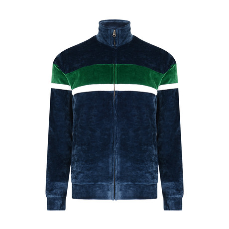 Dapto Velour Jacket // Navy (XS)