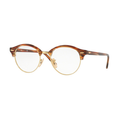 Ray-Ban // Men's 0RX4246V Club Round Optical Frames // Brown + Gold