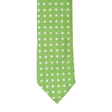 Cesare Attolini // Polka Dot Tie // Green