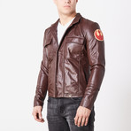 Poe Dameron Rebel Leather Jacket // Brown (3XL)