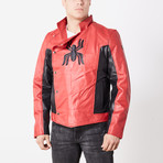 Spiderman Last Stand Leather Jacket // Red + Black (S)