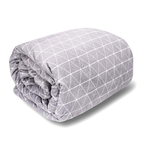 Weighted Blanket // Minky Cover + Cotton Inner Weight Sleeve // King Size (15 lb)
