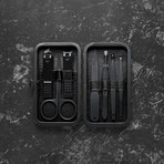 Luxury Manicure Set // Magnetic Black (7 Piece Set)