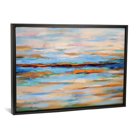 "Abstract Seascape // Radiana Christova (26""W x 18""H x 0.75""D)"