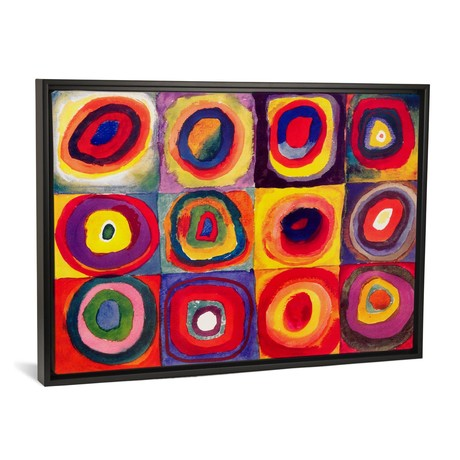 "Squares with Concentric Circles // Wassily Kandinsky (26""W x 18""H x 0.75""D)"